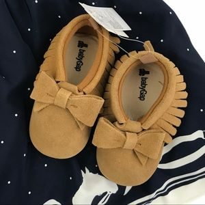 GAP | Brown Suede Bow Moccasins NWT